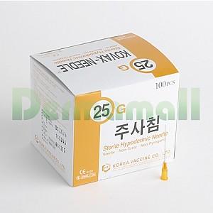 [한국백신]일회용주사침(Disposable Needle) 25G (1-1/2인치)