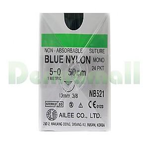 나이론봉합사(Nylon)5/0-13mm(NB521)